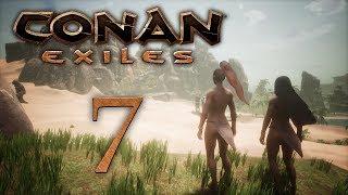 Conan Exiles - прохождение игры на русском - Первая пещера, больно [#7] | PC