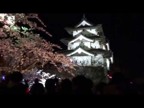 Hirosaki castle in Aomori Prefecture  of cherry blossoms in full bloom