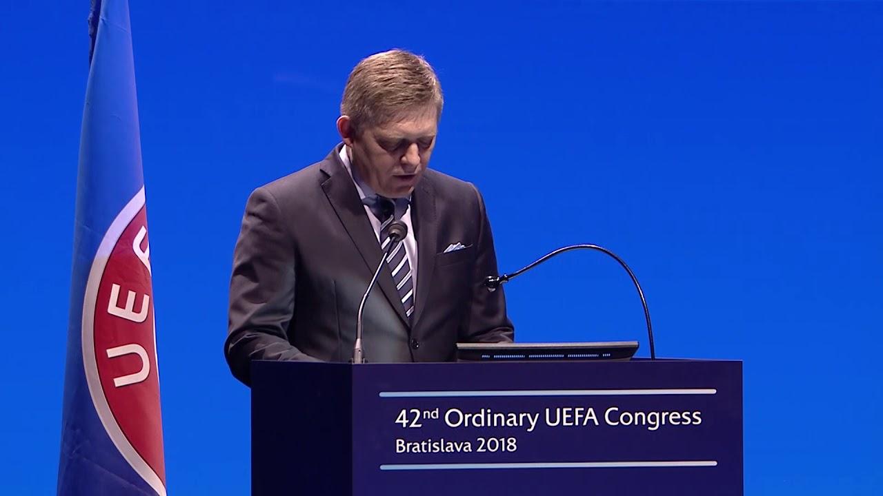 Govor slovačkog premijera Roberta Fice na Uefinom Kongresu