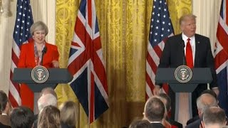 Trump Press Conference with British PM Theresa May (Full Presser) | ABC News