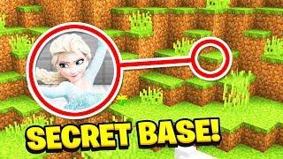Minecraft : We Found ELSA'S SECRET BASE!(Ps3/Xbox360/PS4/XboxOne/PE/MCPE)