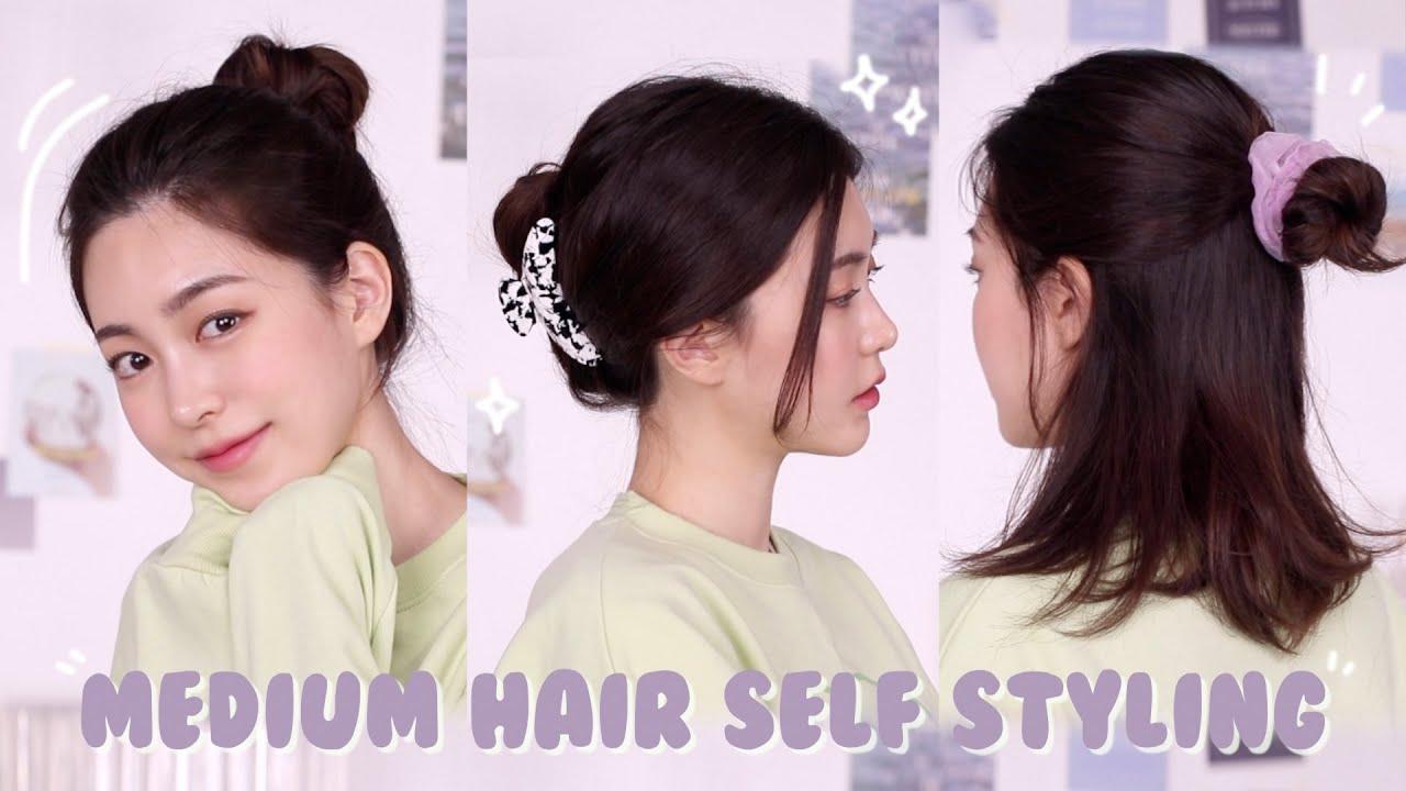 중단발 머리 거지존 예쁘게 묶는법!! 5가지 헤어 스타일링 (ft.집게핀, 로우번, 똥머리, 반묶음) | 단발머리 스타일링 | CHES 체스