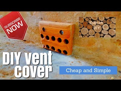 How to make a DIY wooden vent cover