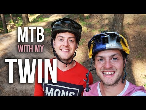 CRAZY MTB RIDING WITH MY TWIN!!