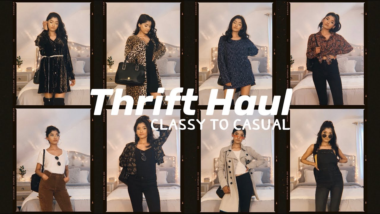 [VIDEO] – THRIFT HAUL + LOOKBOOK!! Stying classy to casual outfits!