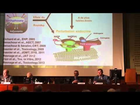 Conférence de Gilles Eric Séralini : OGM et pesticides évolutions sanitairess