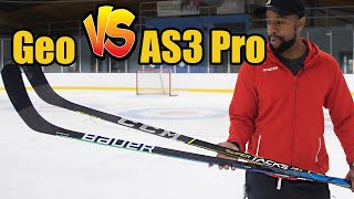 Bauer Nexus GEO vs CCM Super Tacks AS3 Pro hockey stick review - Which Mid Kick point stick is best