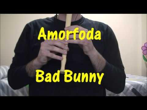 Amorfoda - Bad Bunny / Flauta Dulce (NOTAS)