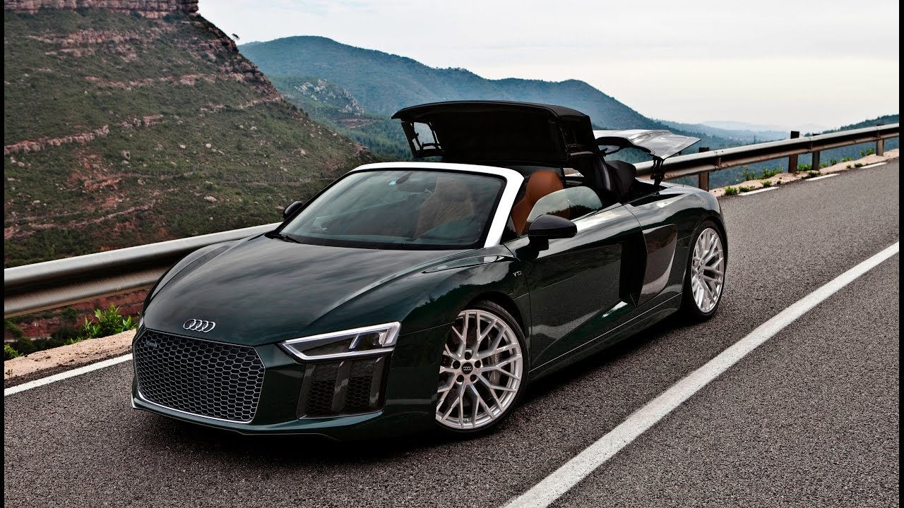 very special 2017 audi r8 v10 spyder in monterrey green audi exclusive youtube. Black Bedroom Furniture Sets. Home Design Ideas