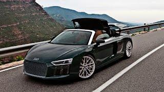 Very special 2017 Audi R8 V10 Spyder in Monterrey Green Audi exclusive