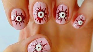Прикольный маникюр на коротких ногтях на Хэллоуин