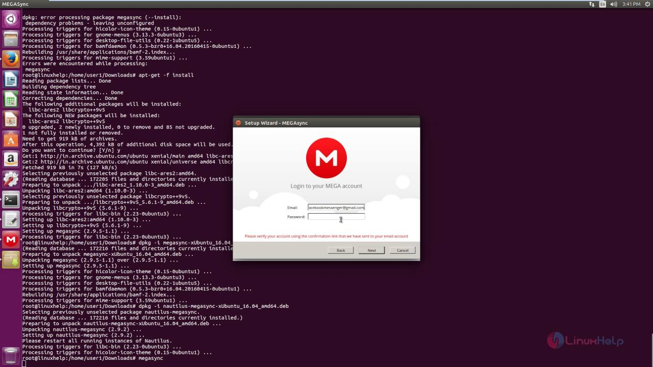 How to Install and Configure Mega in Linux