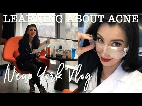 A DAY IN NYC   LEARNING ABOUT ACNE   LA ROCHE POSAY VLOG