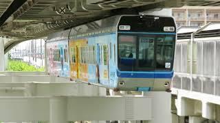 2018年09月10日 千葉都市モノレール 千葉みなと駅に到着する1000形
