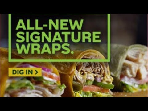 Eating Subway Signature Wrap Chicken Caesar Live Youtube