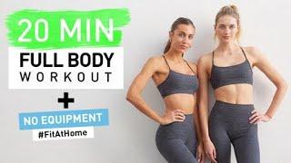 20 MIN Full Body Workout // No Equipment + Calorie Burner // Sanne Vloet #FitAtHome