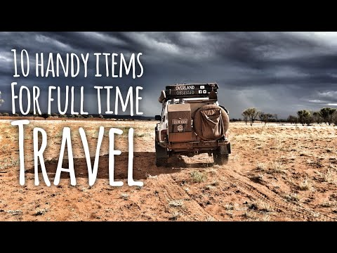 Full time travel essentials! Our top 10 must have items
