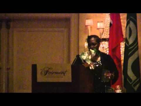 Paula Cox Party Leader PLP 44th Annual Conference Banquet Bermuda October 29 2011