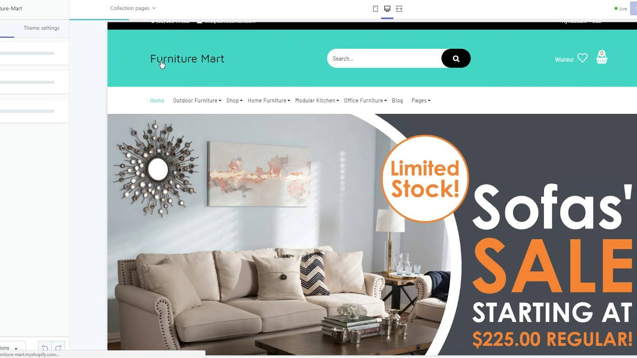 Becker - Furniture Mart Shopify Theme Adding Sidebar Filters Using Tags