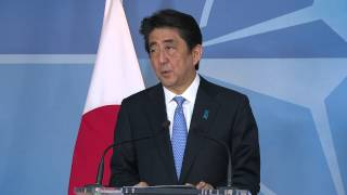 NATO Secretary General and Prime Minister of Japan - Joint Press Point