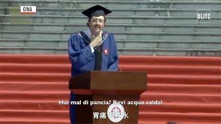 Cina, studente italiano si laurea a Shanghai e diventa una star