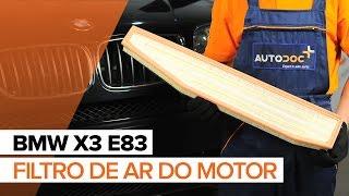 Desmontar Filtro de Ar BMW - vídeo tutoriais