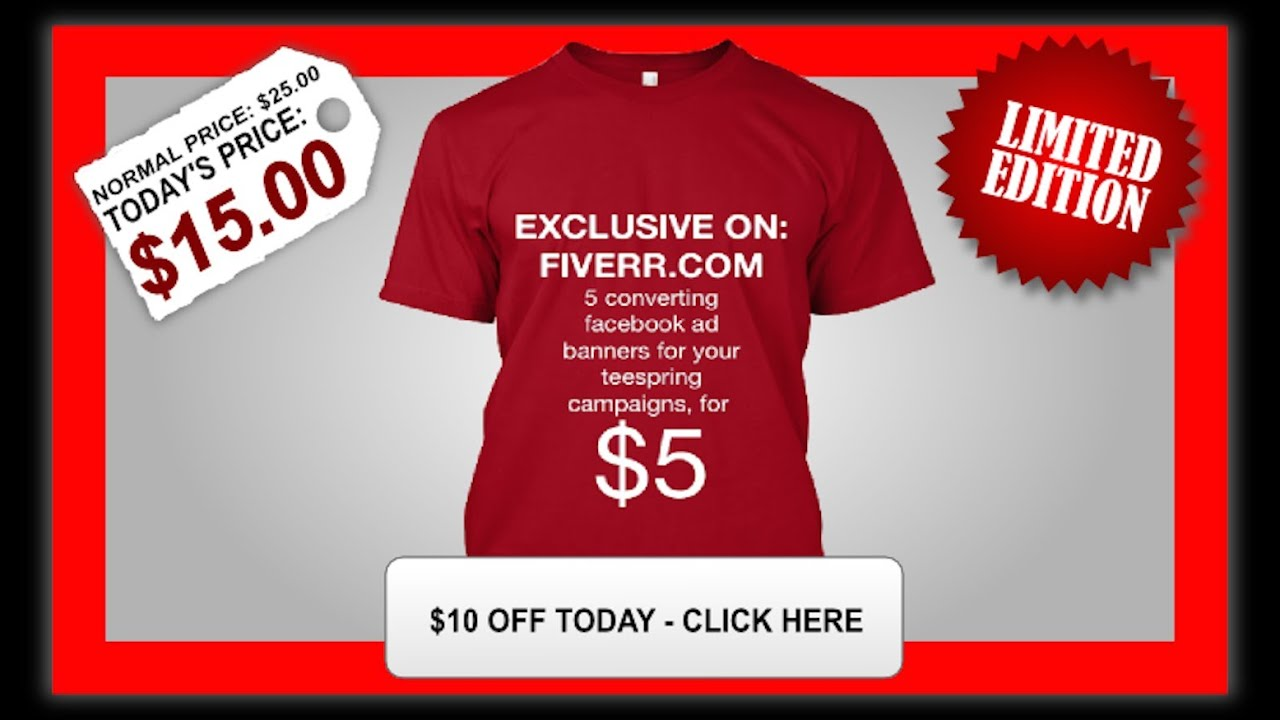 How to make money with teespring and facebook ads 2016 for T shirt ads on facebook