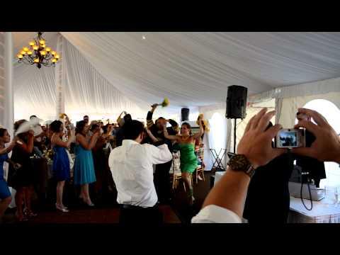 Lauren and Wes' Bruins Wedding Entrance 7/23/11