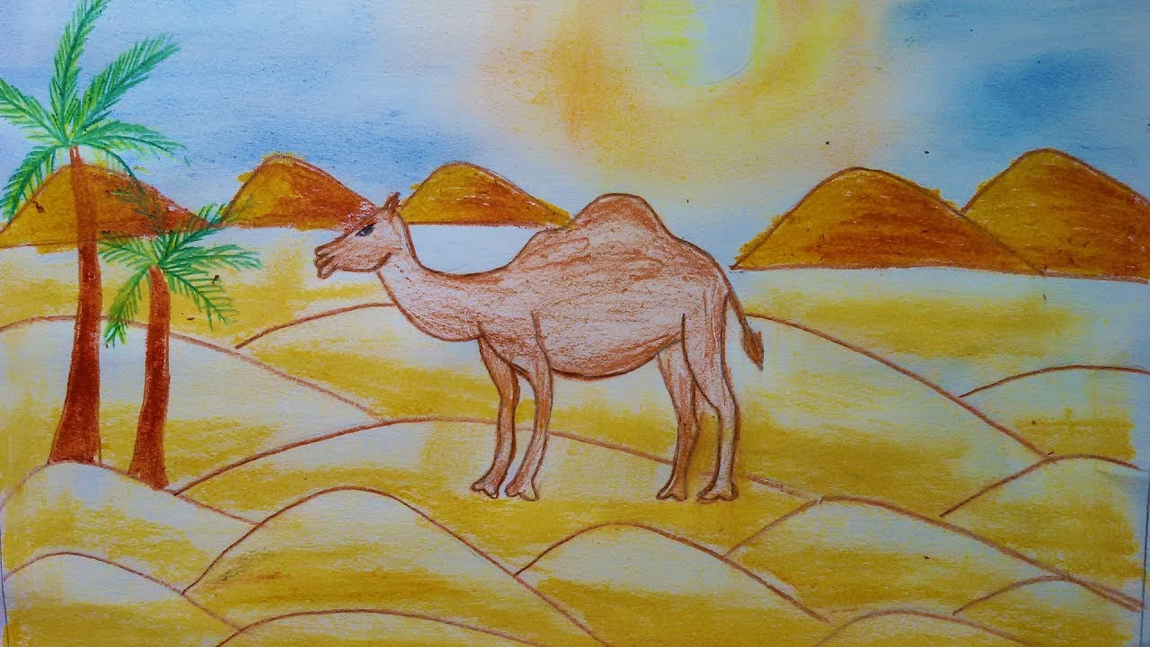 How To Draw Scenery of Desert
