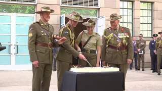 Presentation of the new army banner and the 118th birthday celebrations of the Australian Army