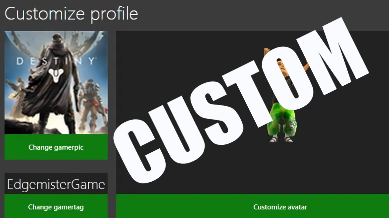 how to make custom gamerpics on xbox one 360 patched youtube