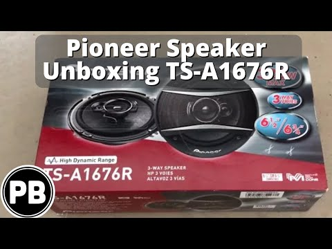 """Pioneer 6.5"""" Speaker Unboxing TS-A1676R Coaxial"""