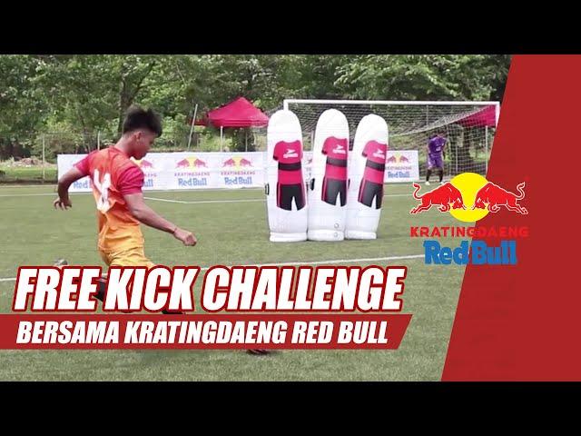 FREE KICK CHALLENGE!!! Kratingdaeng Red Bull Fun Games with Persija Academy