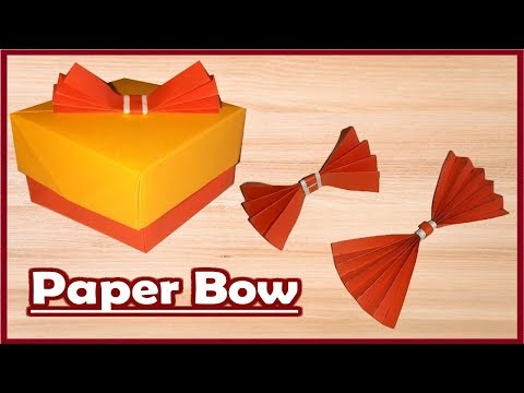 how to make paper bow tie for Christmas - diwali - New year gift box - gift wrap bow