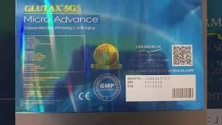 Original Glutax 5gs Micro Advance Glutathione 12 Sessions Injection