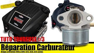 Réparation Nettoyage Carburateur tondeuse Briggs & Stratton 190cc 600-650 series