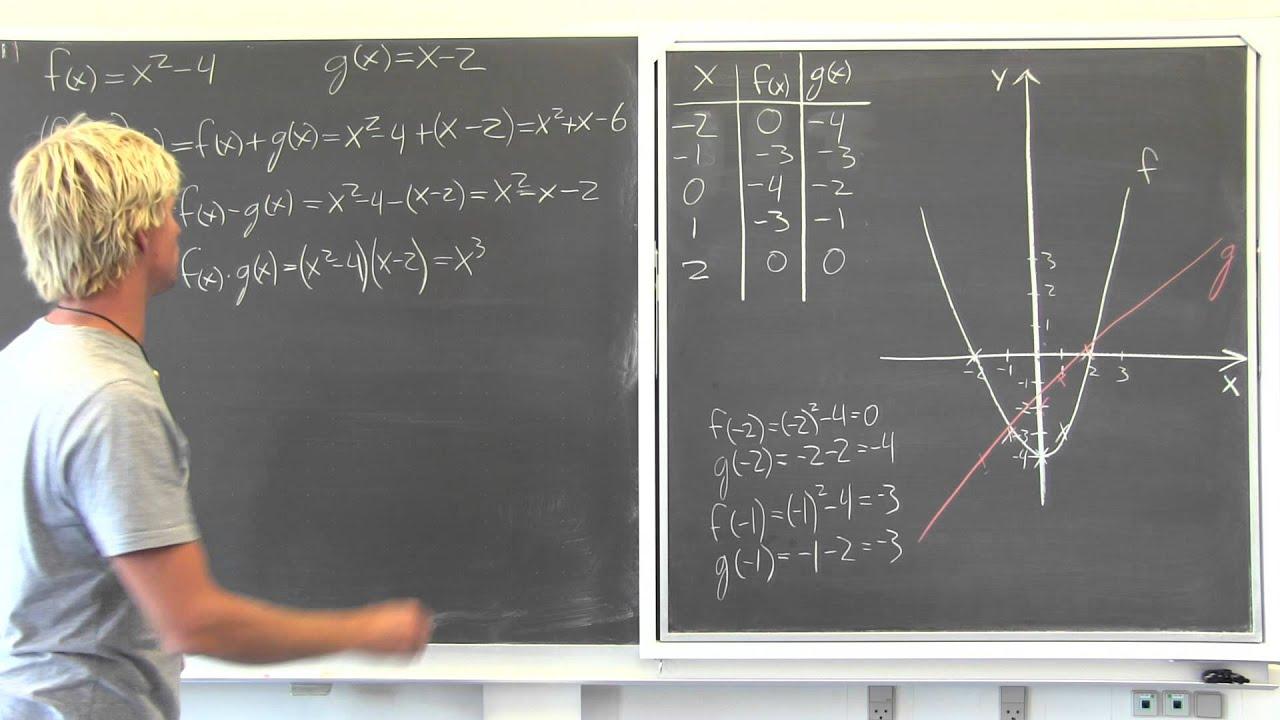 Eksempler på regning med funktioner