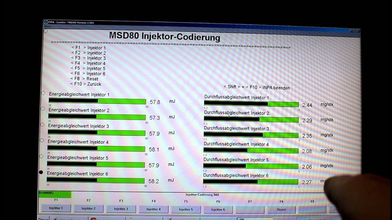 DIY BMW N54 Injector Coding via INPA
