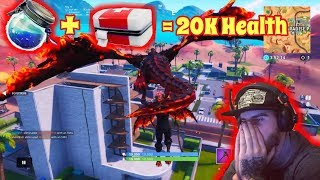 Fortnite - GodMode Glitch Season 8 / 20K Health / Op GodMode Glitch