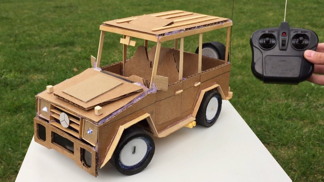 How to Make a Car with Remote Control using Cardboard - Mercedes ...