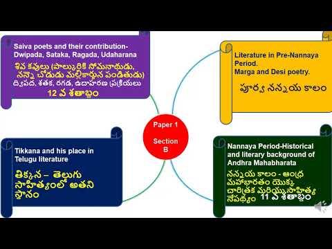 Telugu Literature (తెలుగు సాహిత్యం) పాఠ్య ప్రణాళిక (For IAS)