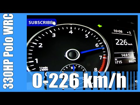 VW Polo R WRC MTM 330 HP 0-226 km/h NICE! Acceleration Beschleunigung Autobahn Test