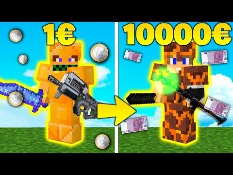 EQUIPAGGIAMENTO 10000€ vs 1€ - RICCA vs POVERA - Minecraft ITA