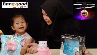 Unboxing Paket Squishy & RC Flying Ball Drone Mainan Anak dari Banggood com