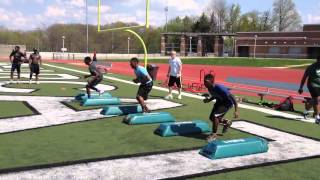 Bedford Bearcats football offseason workouts 2015