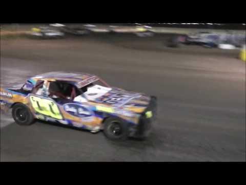 Salina Speedway Budweiser IMCA Hobby Stock *Heat2 & A Feature* 7-7-17