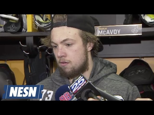 Charlie McAvoy Bruins Stanley Cup Final Game 7 Postgame Locker Room