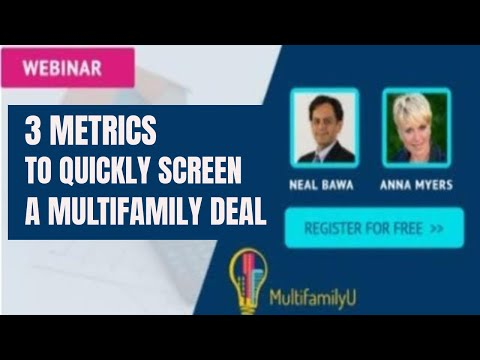 3 Metrics to Quickly Screen a Multifamily Deal