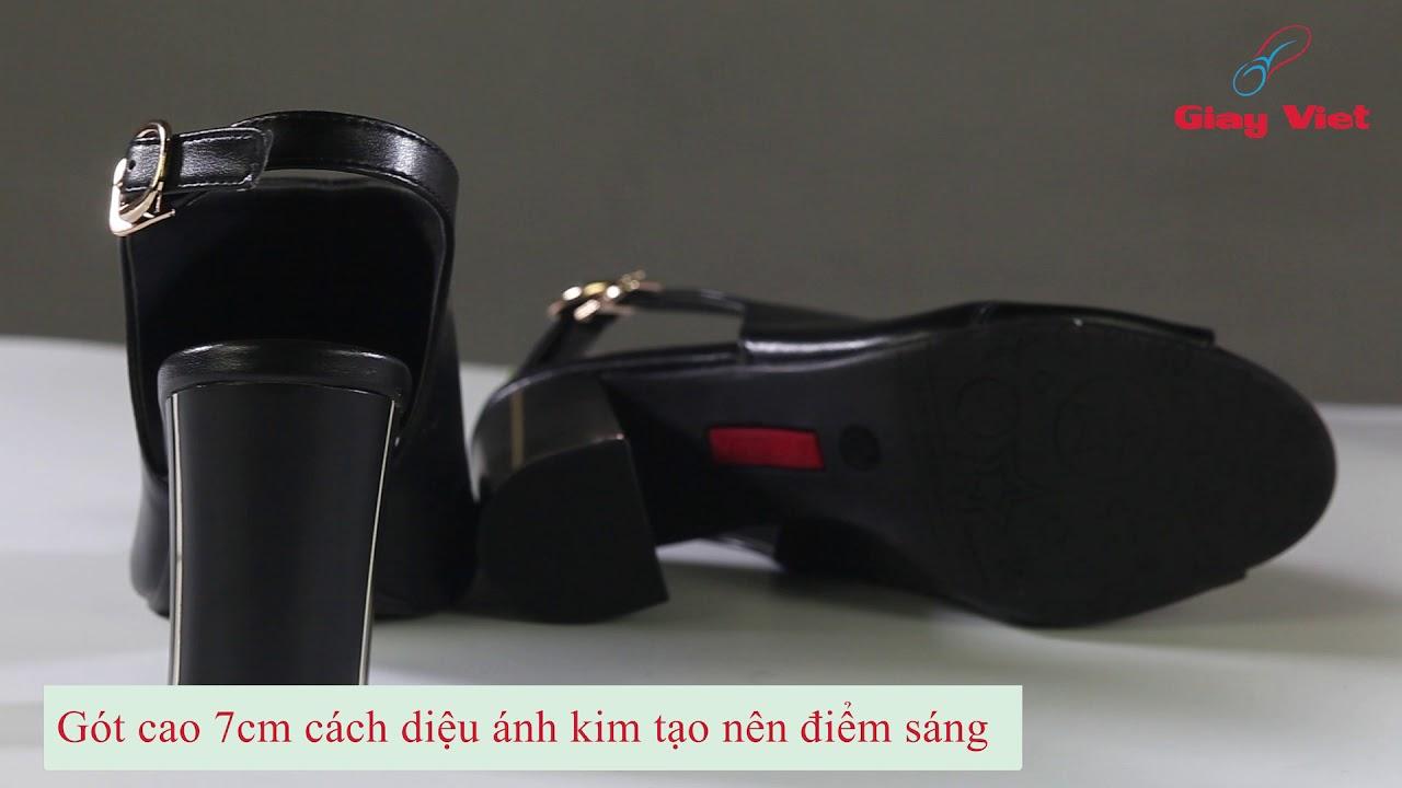 Giày cao gót 7cm – giày nữ xinh nhất Vina Giày C18.022-DE