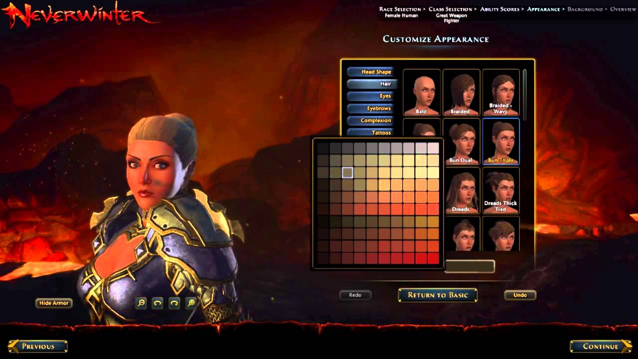 Neverwinter Character Creation Youtube